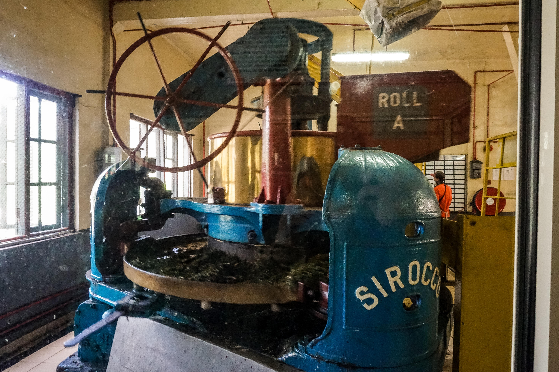 alte Maschine zur Teeherstellung