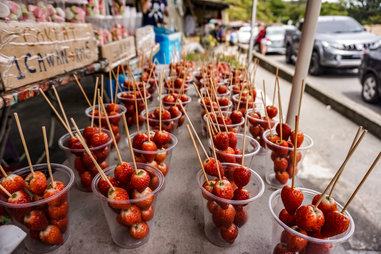 Erdbeeren am Stil