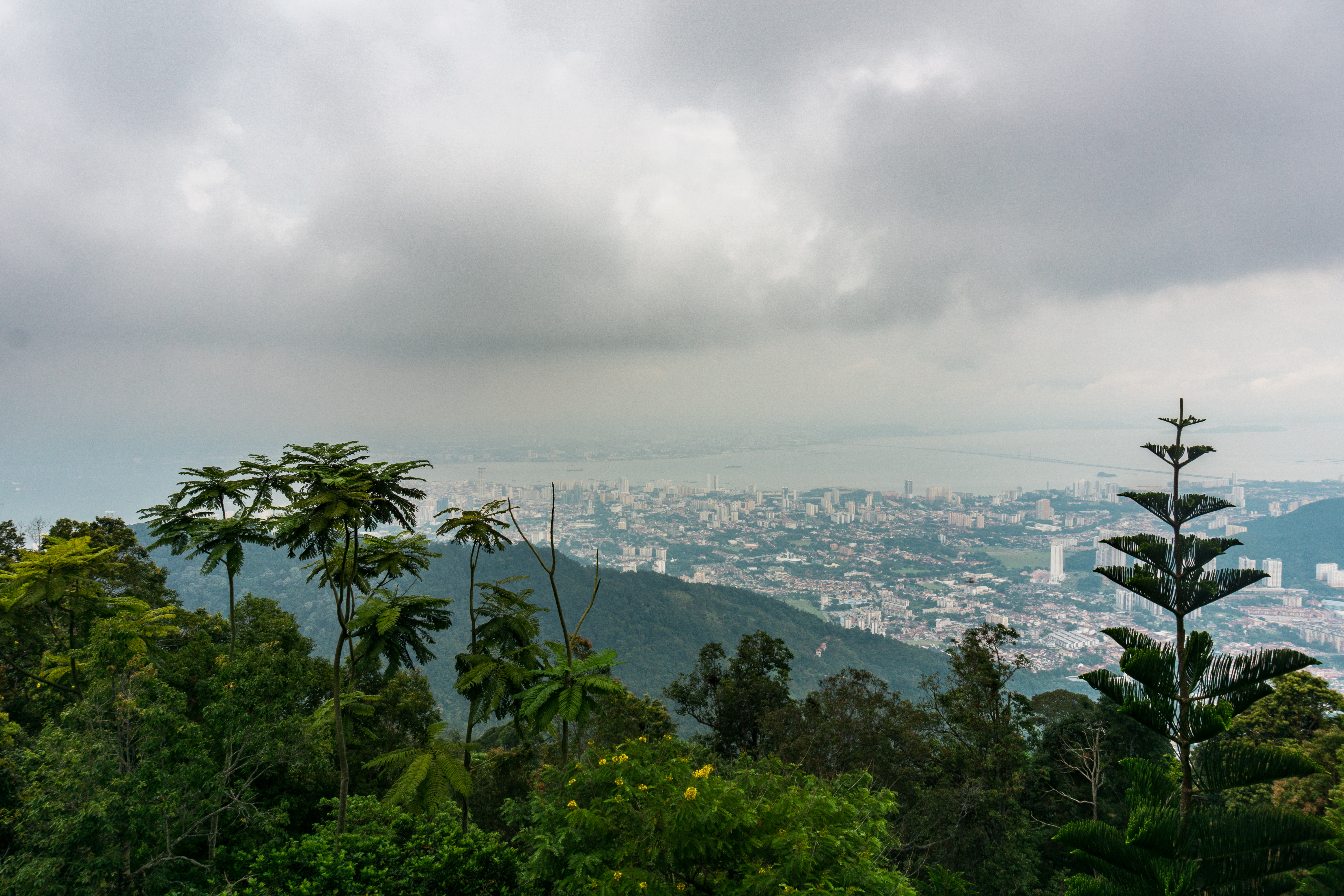 Aussicht vom Penang Hill auf Penang