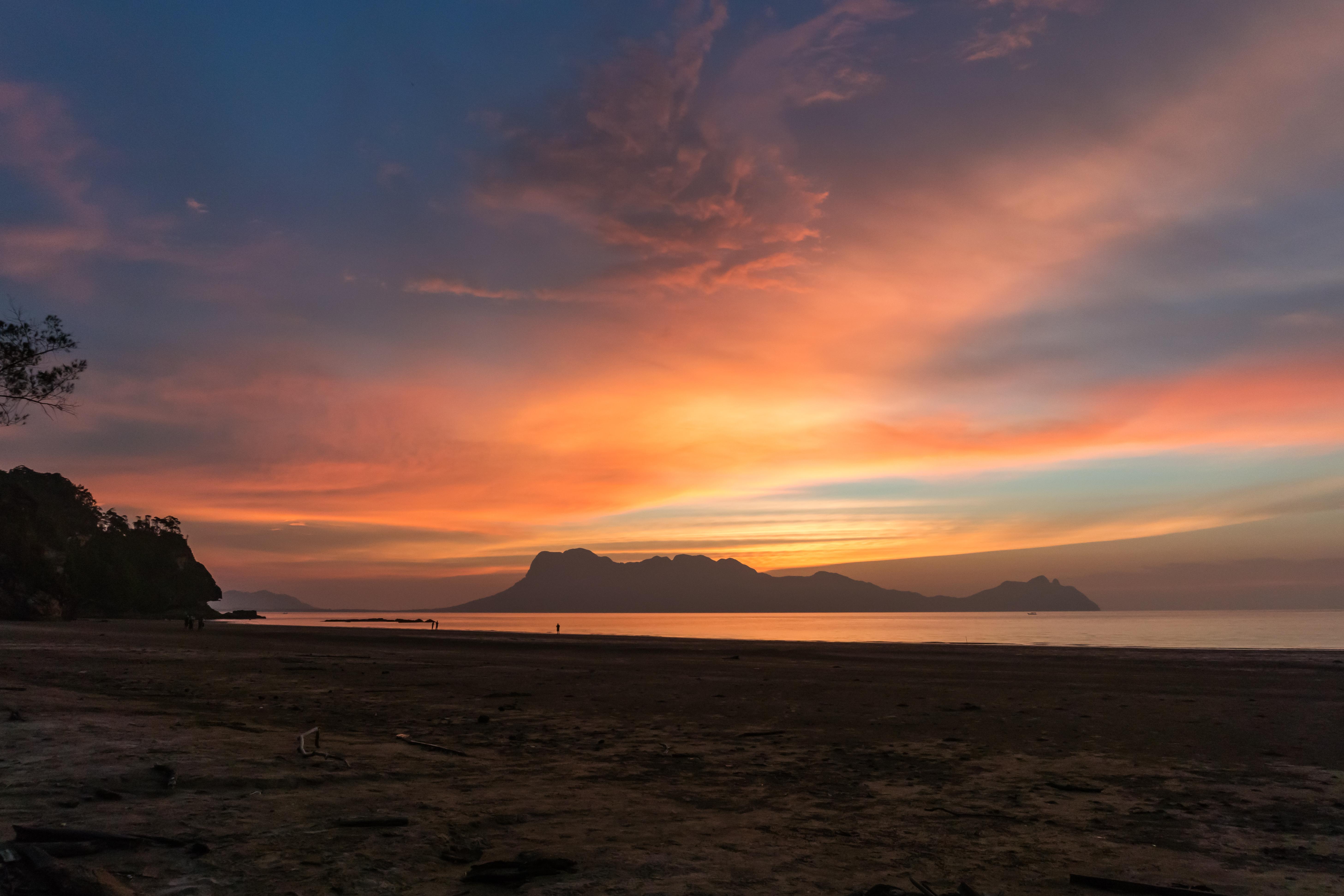 traumhafter Sonnenuntergang im Bako Nationalpark