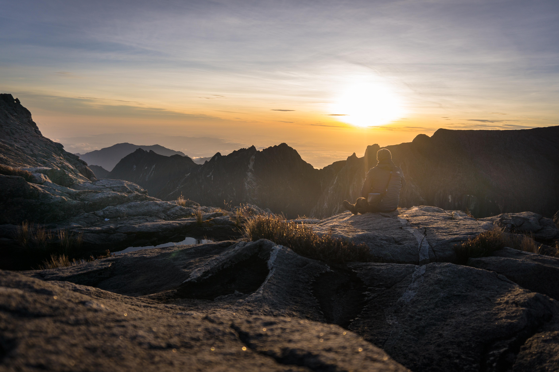 Sonnenaufgang auf dem Mount Kinabalu