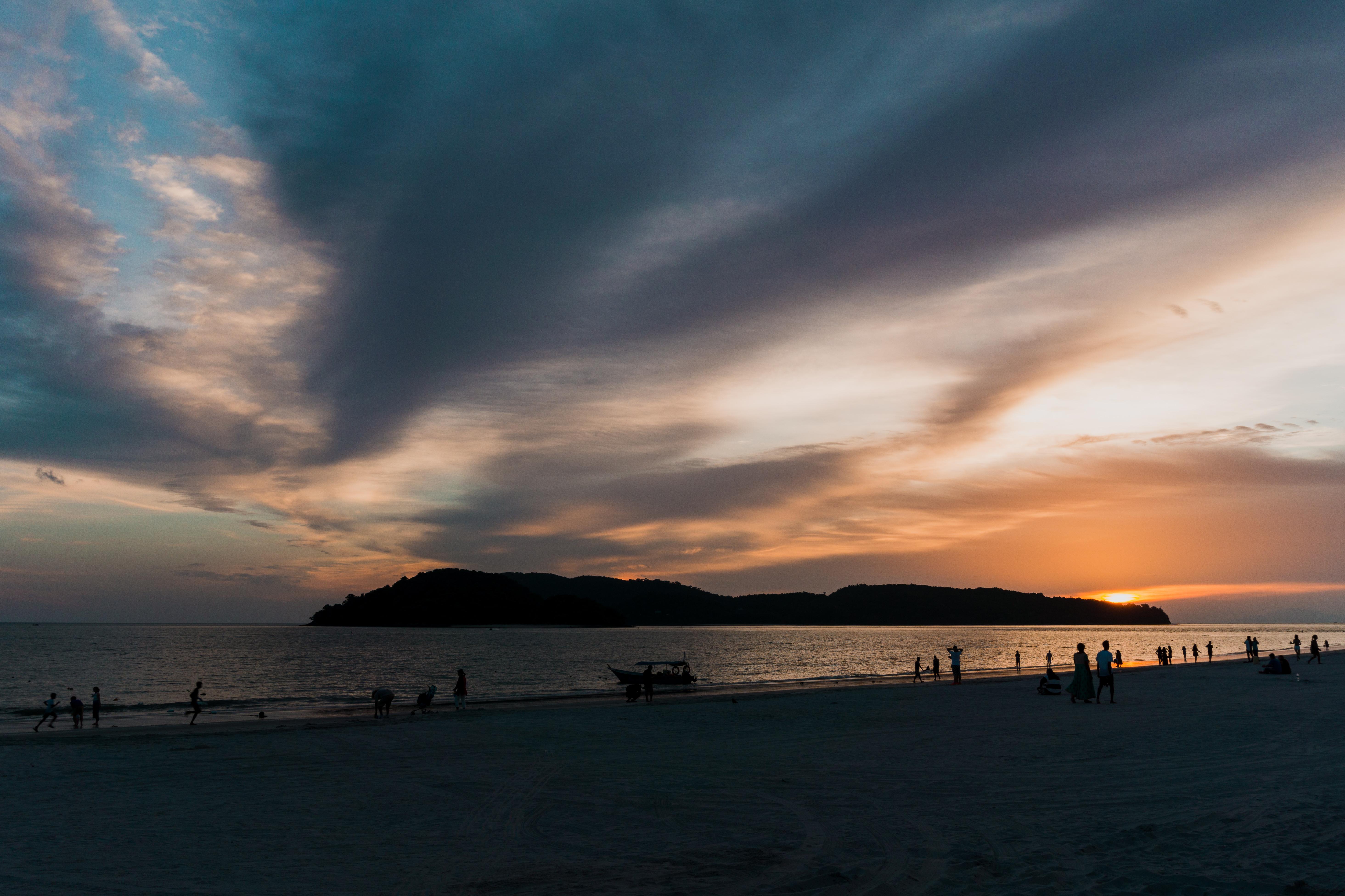 Sonnenuntergang Cenang Beach Langkawi