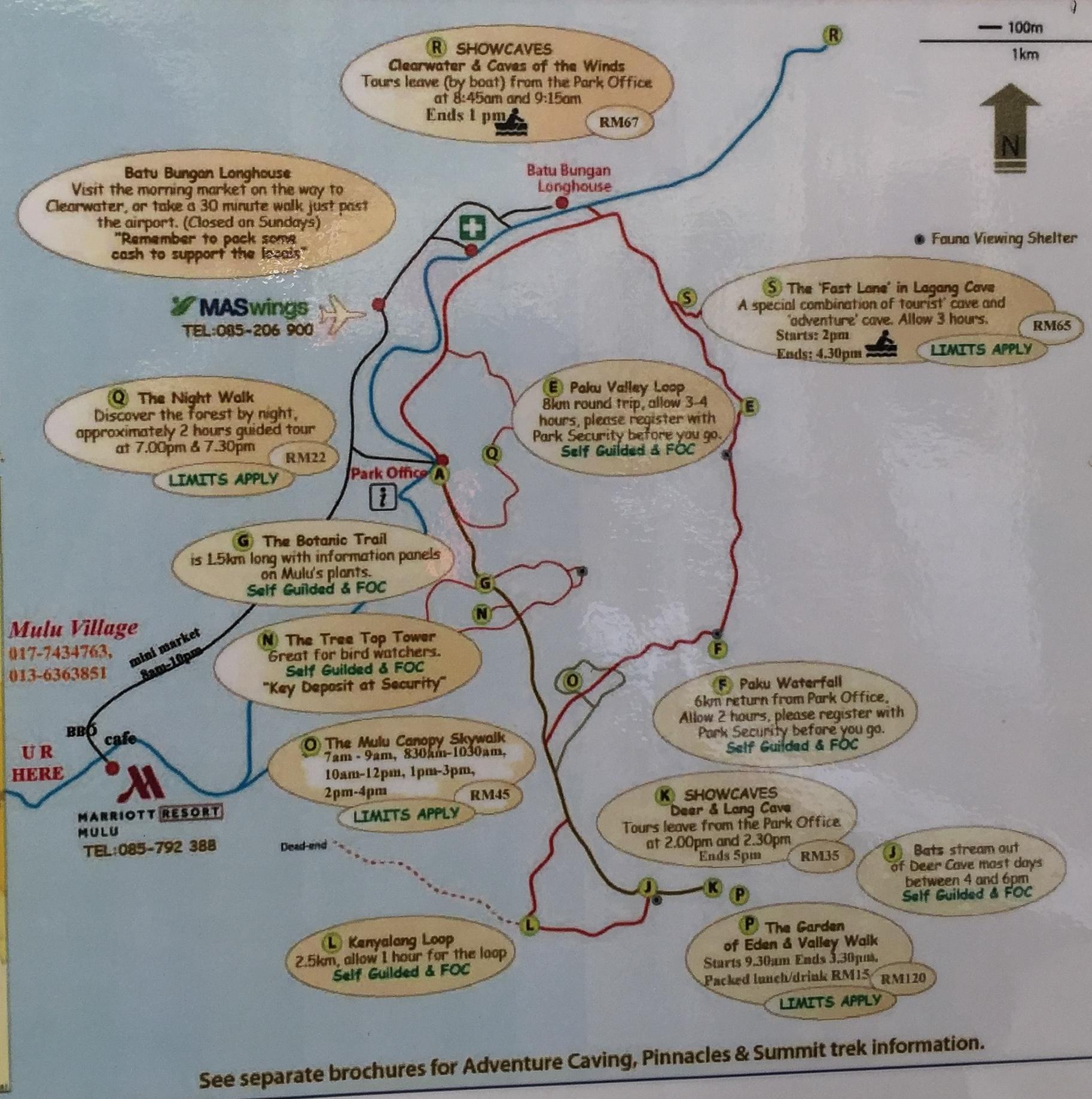 Lageplan Mulu Nationalpark